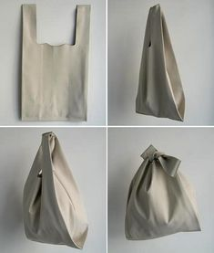 Leather bag made from one~piece ~ such a shame it& leather - Diy Fashion, Fashion Bags, Diy Makeup Bag, Leather Bag Pattern, Diy Sac, Diy Tote Bag, Fabric Bags, Cloth Bags, Handmade Bags