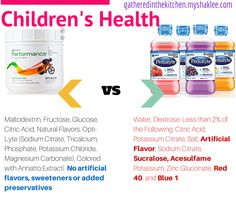 Shaklee Performance vs Pedialyte for dehydration