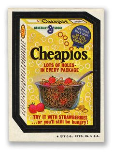 Topps Wacky Packages  4th Series 1973 CHEAPIOS CEREAL