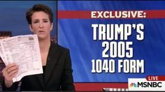 Trump Considering Major Legal Action Against MSNBC, Rachel Maddow Over Tax Return Release