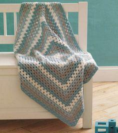 Granny Square Baby Blanket :) #crochet #yarn