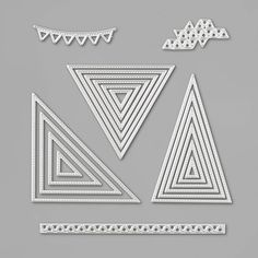 Embossing Machine, Embossing Folder, Card Tags, I Card, Right Triangle, Different Patterns, My Stamp, Stamping Up, Geometric Shapes