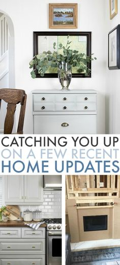 This and That - A Few Little Home Updates   The Creek Line House Martha Stewart Paint, Cabinet Spice Rack, Window Bars, Water Bed, White Dishes, Kitchen Hardware, Under Cabinet, White Rooms, Fireplace Surrounds