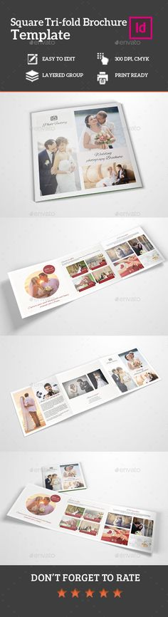 Bundle_Square Tri-Fold 2 in 1 Print, Squares and Design templates - vacation brochure template