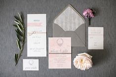 Invitations by Ribbons & Bluebirds.  Christy Tyler Photography. An Urban Affair Event Planning.  Romantic Chicago Wedding inspiration from Ruffled Blog.