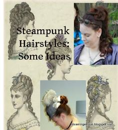 Plenty of ideas on how to get that ladies style to go with your steampunk outfit!