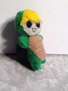 Tiny turtle felt person by Li Boggs