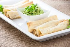 Oven-Baked Chicken Taquitos - an easy gluten free dinner recipe, can be made with leftovers, and can easily be made dairy free! - FaveGlutenFreeRecipes.com
