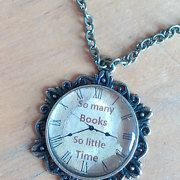 Bookish necklaces for all by BookishGiftsUK on Etsy
