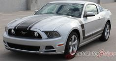 2013 2014 Ford Mustang Prime 1 Boss 302 Style Hood and Side Vinyl Graphics 3M Decals