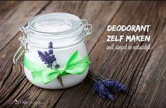 Deodorant, zelf maken met simpele ingrediënten.