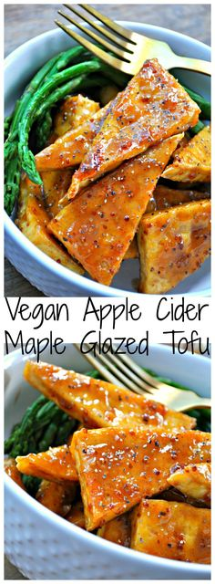 Vegan Apple Cider Maple Glazed Tofu - Rabbit and Wolves