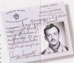 Permiso de Portaciòn de armas otorgado por Cuba a Jorge Negrete.