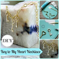 DIY Key To My Heart Necklace