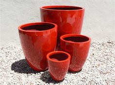 Light Weight Pots. Tall Round Planters.