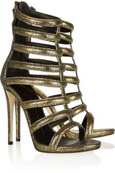 Giuseppe Zanotti  Metallic suede gladiator sandals
