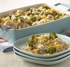 Make this family-favorite from scratch without using canned soups: Rice, broccoli and chicken casserole makes for an easy weeknight dinner.