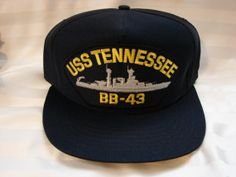 Vintage Navy Ship USS Tennessee BB-43 Ball Cap Hat Navy Ship Hat Embroidered by TreasuresPast4U