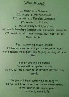 Why Music? ... This is why!