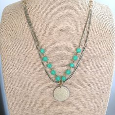 Vintage Jade Glass Bead Mexican Peso Necklace- Laura James Jewelry – Laura James Jewelry