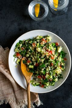 You can serve tabbouleh as a side dish to simply grilled or roasted meats or fish. And it's a natural with falafel, either homemade or ordered in. (Photo: Andrew Scrivani for The New York Times)