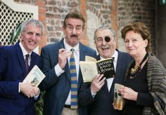 Finance Minister, Máirtín Ó Muilleoir, MLA hosts Bloomsday event at Stormont. Pictured with actors John Challis, Paddy Scully and Arts Council Chief Executive, Roisin McDonough