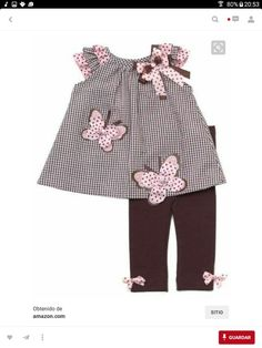 Rare Editions Baby Girls Butterfly Seersucker Dress Outfit Set w/ Leggings , Brown , - Little Girl Fashion, Toddler Fashion, Kids Fashion, Toddler Dress, Toddler Outfits, Kids Outfits, Little Dresses, Little Girl Dresses, Baby Dress Patterns