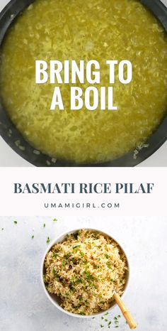Basmati Rice Pilaf This easy rice pilaf recipe takes things to the next level with basmati rice. We hope you'll add this classic dish to your repertoire. It's a perfect side dish or bed for a wide variety of meals. Basmati Rice Recipes, Rice Recipes Vegan, Vegetarian Recipes, Cooking Recipes, Healthy Recipes, Vegetarian Cooking, Cooking Tips, Rice Side Dishes, Food Dishes