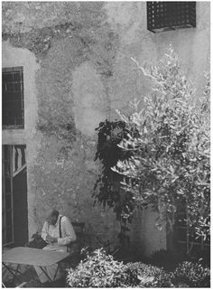 Cy Twombly in his house in Gaeta