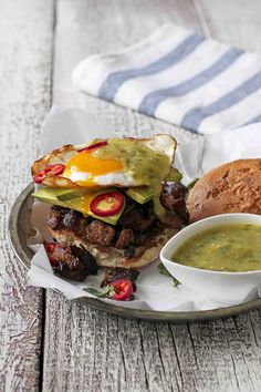 Citrus Carnitas and Fried Egg Sandwich with Salsa Verde | Udi's® Gluten Free Bread