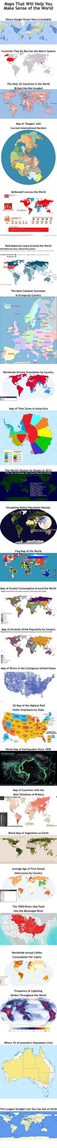 Maps That Will Help You Make Sense Of The World - will need to censor some if in classroom