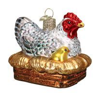 Buy Old World Christmas ornaments direct from the Christmas Ornament Superstore! We have a large selection of cute Merck Family Old World Christmas ornaments that will put a smile on any one's face! Old World Christmas Ornaments, Old Christmas, Christmas Tree Decorations, Christmas Ideas, Hens On Nest, Chickens And Roosters, Glass Birds, Vintage Ornaments, Retro