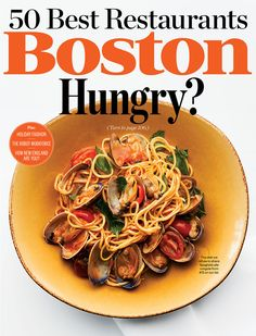 "The 50 Best Restaurants in Boston 2014. Article: ""App Happy"". Words by Melissa Malamut, Photograph by Bruce Peterson, Food and Prop Styling by Darcy Hammer for Anchor Artists."