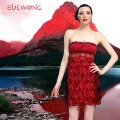Sue Wong strapless cocktail dress with pleated and beaded top and scallop seutache skirt… #teamsuewong #suewong #fashion #hautecouture #couture #picoftheday #glamorous #colorful