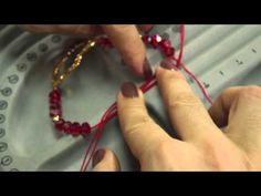 Como hacer una pulsera hilo rojo sol Kit 23334 - YouTube