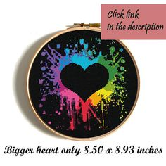 Heart cross stitch pattern Love cross stitch pattern Rainbow watercolor modern home decor Wedding gift Birthday DIY gift Counted xstitch No298 This is a digital item. The PDF file of the pattern will be available for instant download once payment is confirmed. Instant Digital Download: