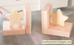 2 Crafty 4 My Skirt: DIY Knock-off Bookends Tutorial