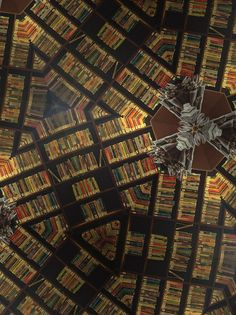 The Library of Babel - altered image based on the Deichmanske Bibliothek, Oslo