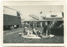 1940s camper camping....I'd like to have one of these vintage tear-drop trailers right now!