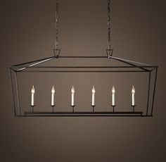 19th C. English Openwork Linear Pendant - Dining Room