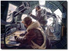 AVIATION ART HANGAR - The Regensburg Mission by Gil Cohen (B-17 Flying Fortress)