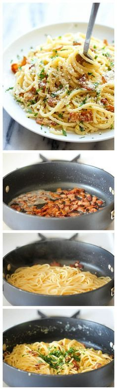 Espagueti a la carbonara en 15 minutos   27 recetas de pasta sustanciosas y deliciosas