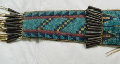 Replica Lakota knife sheath, detail