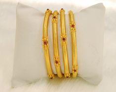 Bangles / Bracelets / Kada - Gold Jewellery Bangles / Bracelets / Kada at USD Plain Gold Bangles, Gold Bangles Design, Gold Jewellery Design, Bohemian Jewellery, Jewellery Box, India Jewelry, Jewelry Shop, Fashion Jewelry, Gold Bangle Bracelet