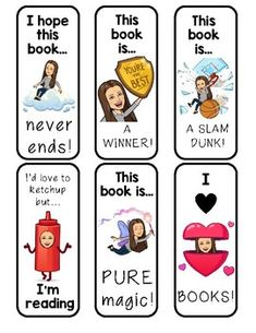 Editable Bitmoji Bookmarks **Add Your Own Bitmoji - Learning 4th Grade Classroom, Primary Classroom, Future Classroom, Classroom Teacher, Classroom Decor, Library Lessons, Library Ideas, Beginning Of School, Middle School
