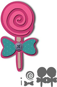sweet lollipop card - birthday invitation------------------------I think I'm in love with this shape from the Silhouette Online Store!