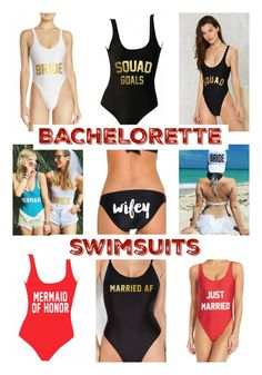 15 #Bachelorette Swimsuits for your #Squad http://aisleperfect.com/2016/08/15-pretty-perfect-bridal-bachelorette-swimsuits.html