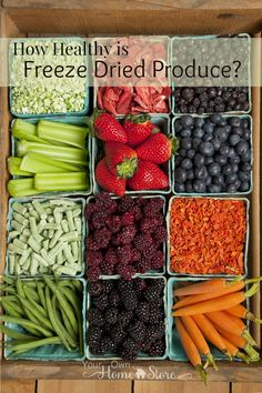 """Can freeze dried produce really compare to """"fresh"""" produce from the grocery store nutrient-wise?  Click to find out!  http://www.yourownhomestore.com/healthy-freeze-dried-produce/"""