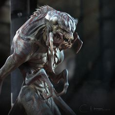 Top 10 Creature Concept and WIP by Ben Erdt Ben Erdt is a Character Artist, Creature Artist, Mode Creature 3d, Beast Creature, Creature Feature, Creature Design, Alien Concept Art, Creature Concept Art, Fantasy Monster, Monster Art, Alien Creatures
