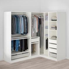 Bedroom Closet Design, Wardrobe Design, Closet Designs, Built In Wardrobe Ideas Layout, Narrow Closet Design, Closet Layout, Dressing Angle, Dressing Pax, Armoire D'angle